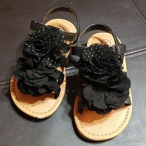 Adorable black sandals, gently used, worn once.